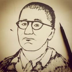 portrait of Bertolt Brecht